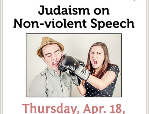 Radical Readings 7: Judaism on Nonviolent Speech, Apr. 18